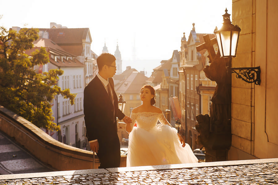 Prague sunrise photoshoot